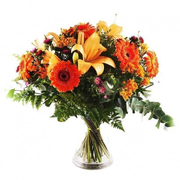 זר פרחים - הכפר הכתום