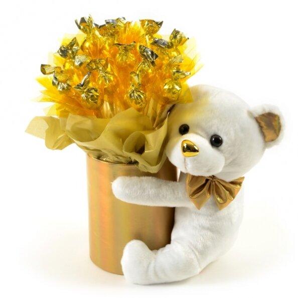 זר מתוק - דובי זהב