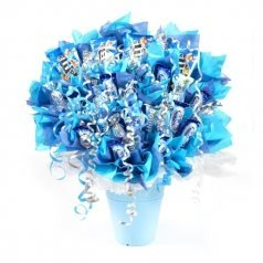 זר מתוק מסיבה בכחול